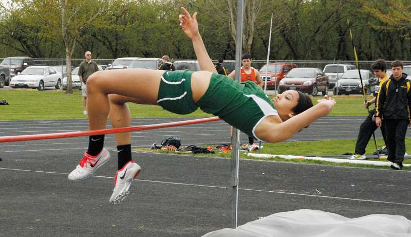 by: PHIL HAWKINS - Veronica Norris won the girls high jump to earn one of the North Marion track and field teams four event victories March 20 in McMinnville.