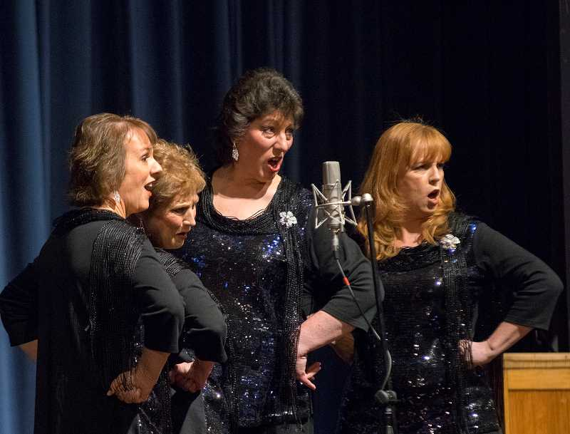 Soiree, featuring Michelle Defreece, Lora Ray, Diane Lu and Marsha Kelly, took eighth place at the All-Northwest Barbershop Ballad Contest.