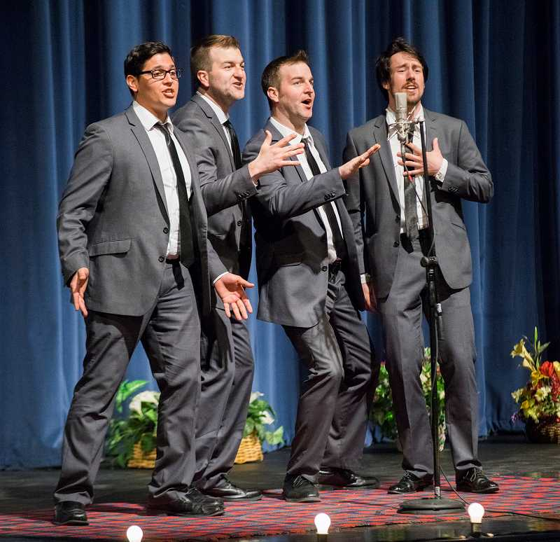Demonstrating particularly tight harmonies and a winning style, The New Originals of Bellingham, Wash., emerged as champion of the 2014 competition in Forest Grove.