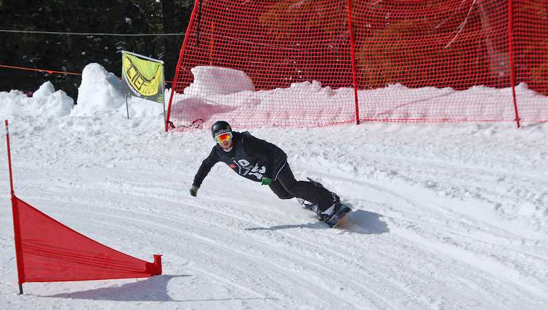 by: SUBMITTED PHOTO - Graham Leib placed fourth in the state snowboarding championships.