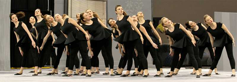 by: TIDINGS PHOTO: J. BRIAN MONIHAN - The Debs show routine earned the team a fifth-place finish at the competition.