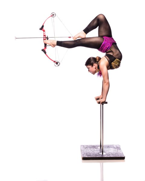 by: COURTESY OF UMBRELLA FESTIVAL - Brittany Walsh, a contortionist/hand balancer/tumbler/floor performer, will be a big part of the Umbrella Festival of Circus and Comedy, April 3-6 at Alberta Rose Theatre.