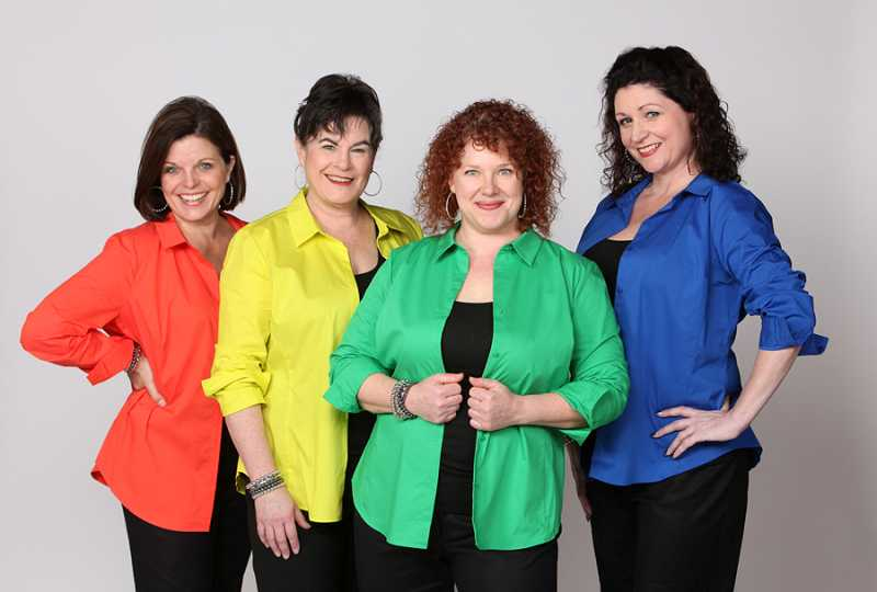 by: CRAIG MITCHELLDYER FOR THE BROADWAY ROSE THEATRE COMPANY - STILL HAVING FUN AFTER ALL THESE YEARS - Laurie Campbell-Leslie (left), Sharon Maroney, Emily Sahler and Lisamarie Harrison actually could have been a girl group called the Bikinis a couple of decades ago as their voices blend beautifully.