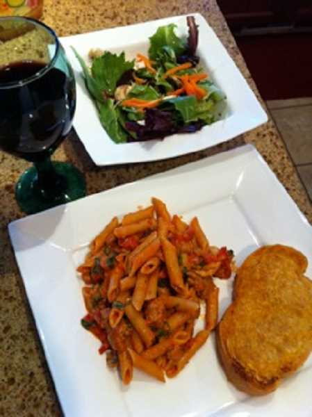 by: DAN PRED - Sweet & spicy penne goes great with cheesy French bread, according to cooking columnist Kristy Kummer-Pred.