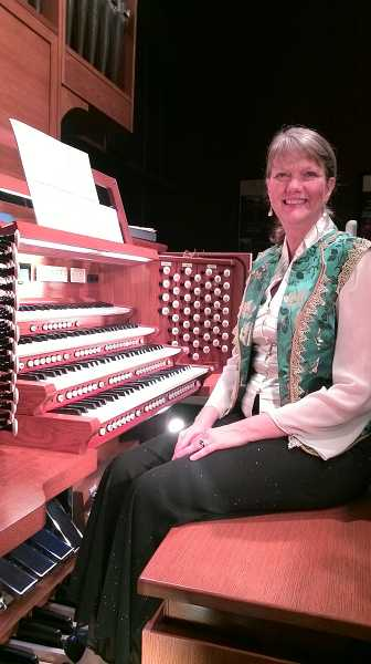 by: COURTESY PHOTO: BETTY CAMPBELL - Lincoln City resident Jeannine Jordan, who accompanies the St. Bedes Episcopal Church choir in Forest Grove, performed an organ concert in Hillsboro last Sunday.