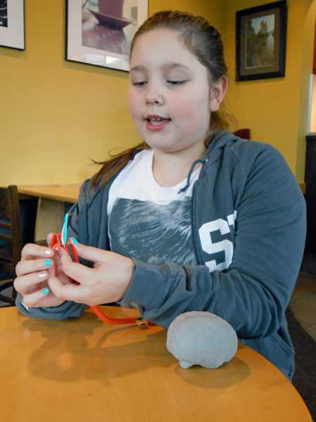 by: REVIEW PHOTO: JILLIAN DALEY - Claire Sarnowski, 9, of Lake Oswego, as of Monday, had raised $4,465 out of her goal of $5,000 for MS Walk in Portland.