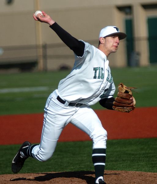 by: DAN BROOD - MULTI-TALENTED -- Senior Nick Duron could be a key player for the Tigers in the outfield or on the mound.