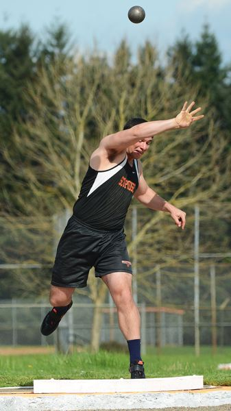 by: JOHN WILLIAM HOWARD - Scappoose senior Kenny Klippel set a new personal record in the shot put on Wednesday, throwing 44 feet, 1.5 inches.