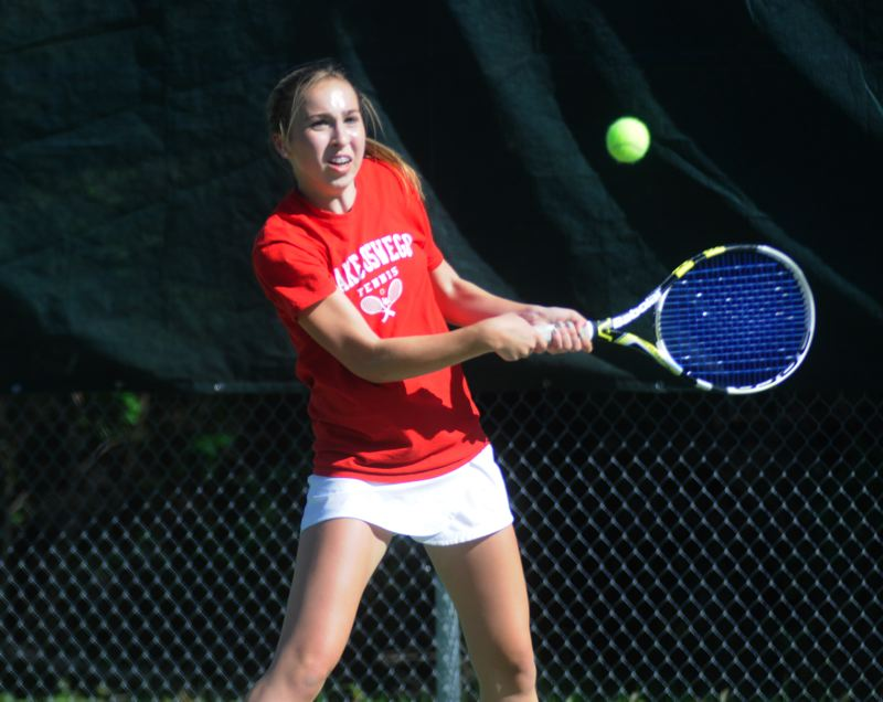 by: MATTHEW SHERMAN - Katie Day played at No. 1 singles for Lake Oswego last year and returns to the Lakers this spring.