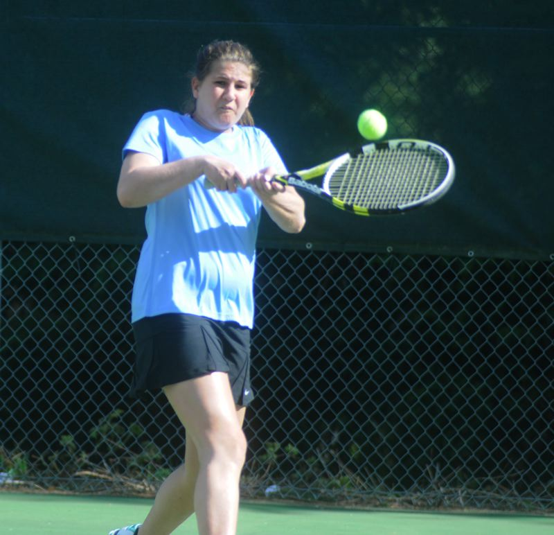 by: MATTHEW SHERMAN - Shea Northfield is one of the Lakeridge girls tennis team's top returners this year. She is slotted in at No. 2 doubles this season paired with Rileigh Hamilton.