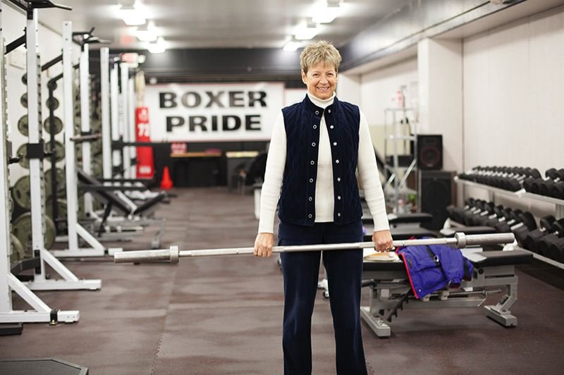 by: PACIFIC UNIVERSITY PHOTO: PARRISH EVANS/PACIFIC MAGAZINE - Judy Glenney, a 1971 Pacific University graduate, has been a trailblazer in helping to promote women's weightlifting as a competitive sport both in the United States and internationally.