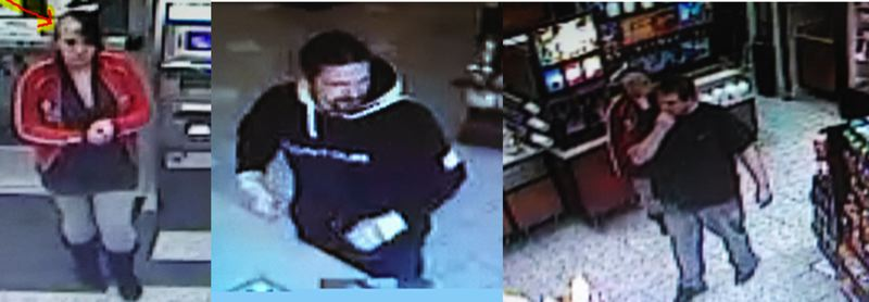 by: GRESHAM POLICE DEPARTMENT - SUSPECTS: These two men and one woman are wanted for allegedly stealing about $4,800 from the Boring-based Guide Dogs for the Blind.
