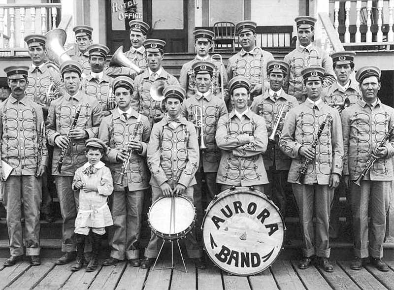 by: SUBMITTED PHOTO - The Aurora Band were rock stars back in their heyday, being in demand all over the area. The Aurora Colony Historical Society will present its annual 'Come Hear Our Music - Notable Music,' on Saturday, April 26, at the Richard R. Brown Fine Arts Center.