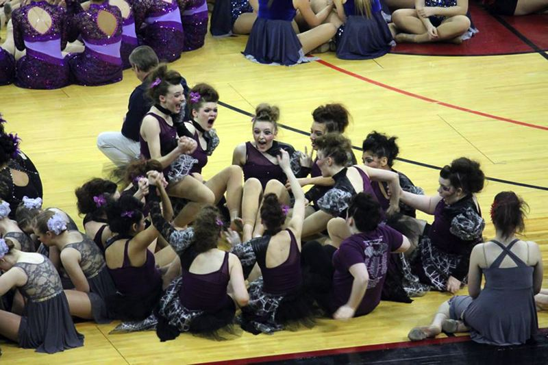by: CONTRIBUTED BY: JENNA JARVIS - As they announced winning teams, all the dance teams were seated on the floor of the gym awaiting the news. SHSs team and coaches were ecstatic.