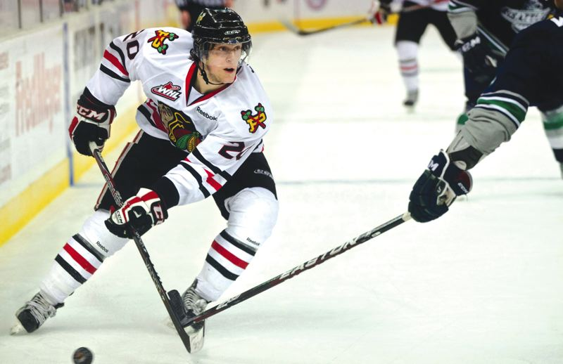 by: PAMPLIN MEDIA GROUP: KEVIN HARDEN - Portlands Taylor Leier scored on a power play with 6:14 to play in the first period to give the Winterhawks a lead they would never surrender Thursday.