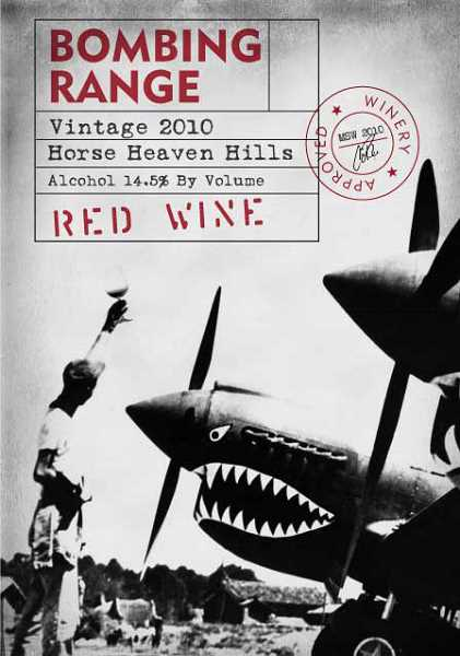 Grapes for Bombing Range Red are grown where during WWII fighter pilot training took place. The label is a tribute to that colorful history.
