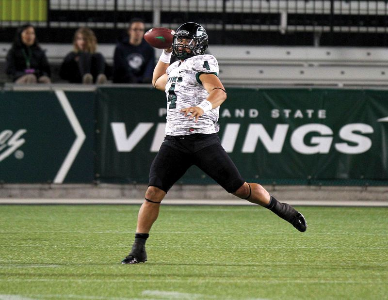 by: TRIBUNE FILE PHOTO: JONATHAN HOUSE - Kieran McDonagh has started at quarterback most of the past two seasons and is returning for his senior year at Portland State.