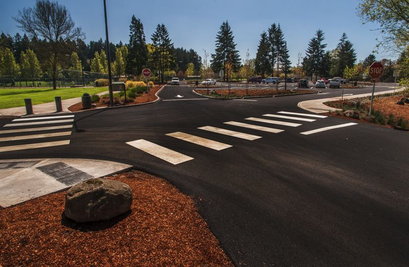 by: SPOKESMAN PHOTO: JOSH KULLA - Driver circulation is now different at Wilsonvilles Memorial Park, part of an $883,000 project completed last month by the city and Jeff Kersey Construction of Canby.