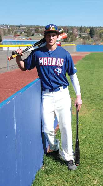 by: JEFF WILSON/THE PIONEER - Madras shortstop Cody Shepherd leads the team in extra base hits so far this season. He said it's all about how he approaches each individual at bat