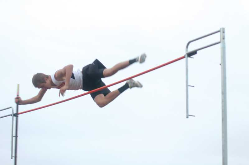 by: JEFF WILSON/ THE PIONEER - Culver sophomore Corey Sledge, seen here vaulting at the Culver Invite eariler this month, is closing in on the 14-foot mark.