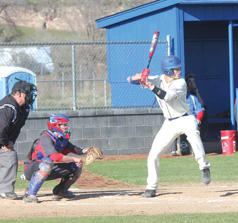 by: JEFF WILSON/THE PIONEER  - Batting third in the Madras' lineup, junior Cody Shepherd has been churning out some quality at bats. He is also killing the ball and has driven in 15 runs so far this season.