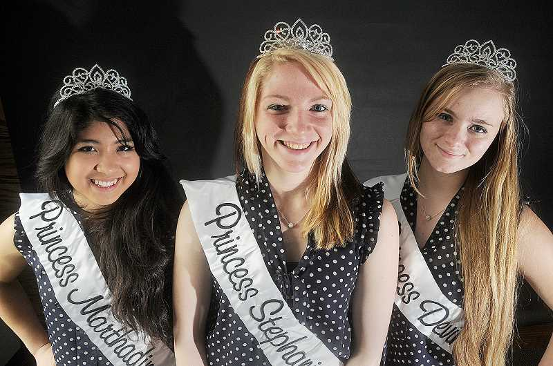 by: GARY ALLEN - Royalty - Marthadina Russell, Stephanie Apple and Devin Beeson, all Newberg High School students, will represent Newberg as the Old Fashioned Festival court.