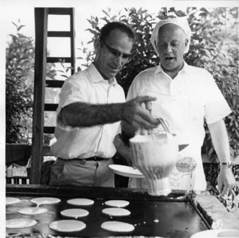 by: SUBMITTED PHOTO: COURTESY OF THE LAKE OSWEGO PUBLIC LIBRARY - Bob Young and Vern Edwards made pancakes for the Lake Oswego Lions Club Pancake Breakfast back in 1964.