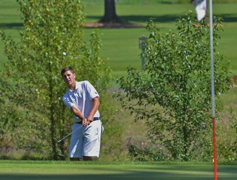 by: VERN UYETAKE - Lake Oswego's Cole Madey was the medalist in Monday's league tournament as the Lakers extended their lead in the TRL.