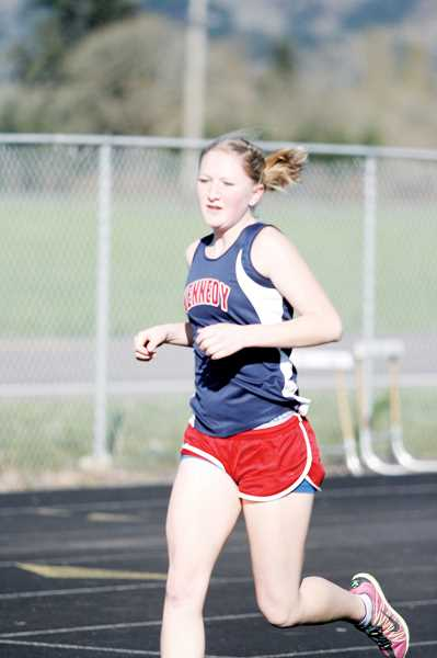 by: PHIL HAWKINS - Kennedy distance runner Lauren Stokley placed first in the 800 and 1,500 meter races Thursday at JFK High School.