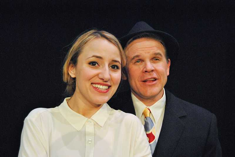 by: COURTESY PHOTO - James Grimes plays Sky Masterson and Carly Wasserstein plays Sarah Brown in TITGs production of Guys & Dolls.