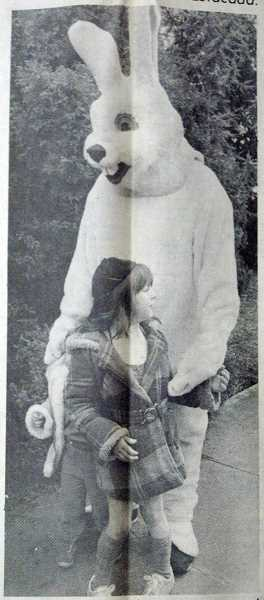 by: ARCHIVE PHOTO - The paper reported that the 6-foot-tall Easter Bunny in the 1984 Easter Parade scared a few children.