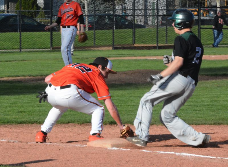 by: TIMES PHOTO: MATT SINGLEDECKER - Beaverton first baseman Ryan Hill and the Beavers say they have to get the bats going in order to be a contender for a Metro championship.
