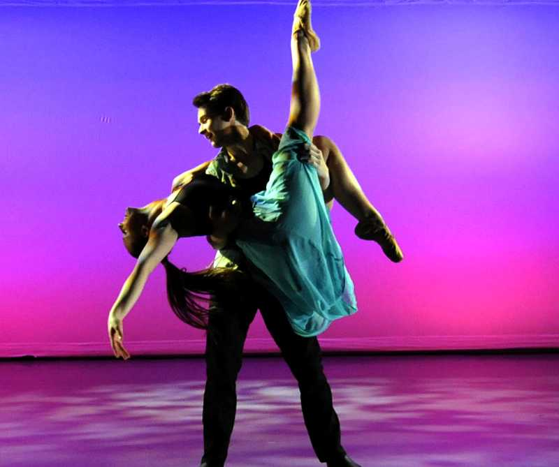 by: SUBMITTED PHOTO - Madeline Robertson of Lake Oswego dances with partner Jonas Berger in the promotion poster for a NW Fusion Dance Company show this weekend.