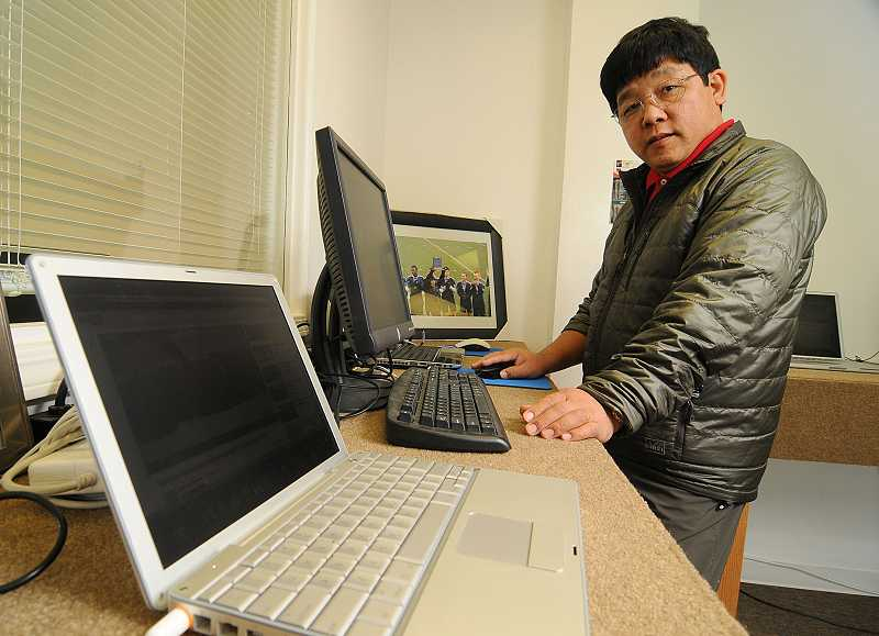 by: REVIEW FILE PHOTO: VERN UYETAKE - Tendu Sherpa, a former mountain guide in Nepal, knew all about the dangers of Mt. Everest. He led seven treks up the giant peak in the 1980s. Sherpa owns a computer repair business in Mountain Park.