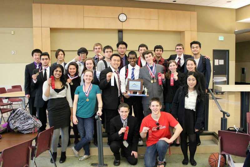by: SUBMITTED PHOTO: LOHS DEBATE TEAM - Lake Oswego High School debate team did well at districts and a northern Oregon competition.