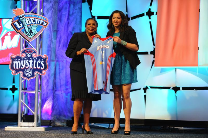 by: TRIBUNE FILE PHOTO: L.E. BASKOW/COURTESY OF ATLANTA DREAM - Shoni Schimmel is expecting to be an attraction in the WNBA as well, after sharing her first-round draft pick night with league President Laurel J. Richie.