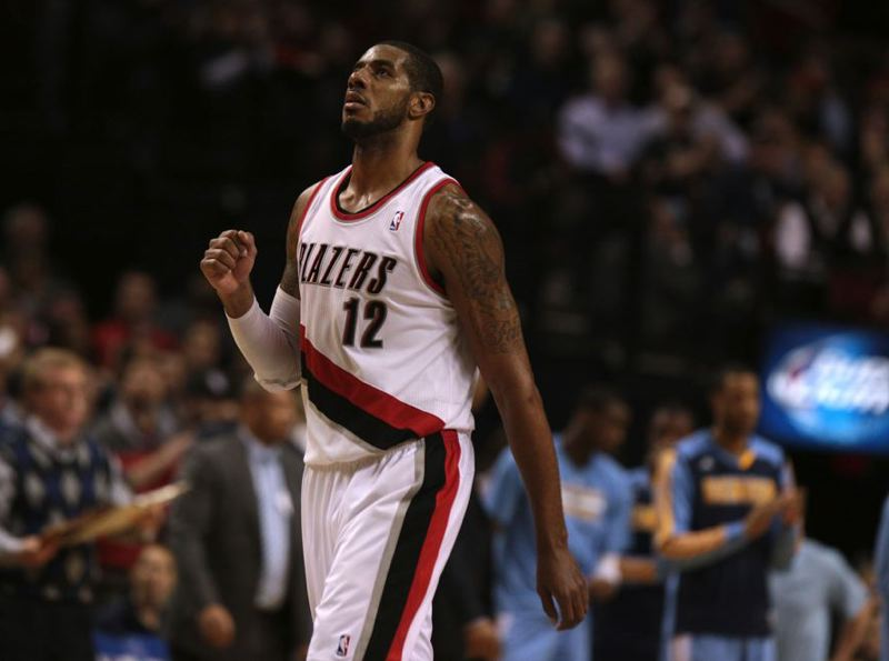by: TRIBUNE FILE PHOTO: JONATHAN HOUSE - LaMarcus Aldridge's two 40 point-plus games have the Trail Blazers in a 2-0 series lead over the Houston Rockets.