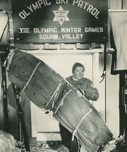 by: CONTRIBUTED PHOTO - Smith was the first woman to participate in the Squaw Valley Ski Patrol Olympics in 1960.