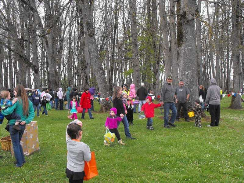 by: MOLALLA KIWANIS - Crowds of kids and parents enjoyed the day at Clark Park for the annual Molalla Easter Egg Hunt