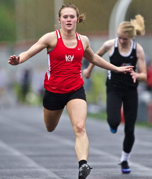 by: JAIME VALDEZ - Becca Houk, who placed third at state in the 100 and 200 a year ago, is taking her talents to Seattle Pacific.