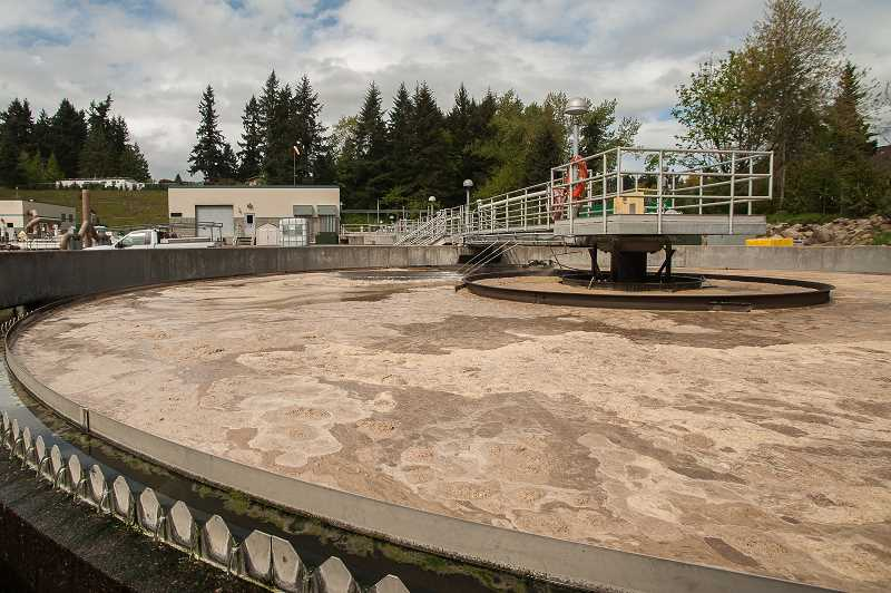by: SPOKESMAN PHOTO: JOSH KULLA - The wastewater clarifier shown here is part of Wilsonvilles new $44 million wastewater treatment plant dedicated last week at a public ceremony.