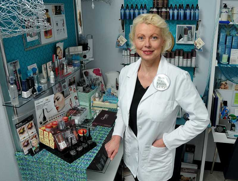 by: REVIEW, TIDINGS PHOTO: VERN UYETAKE - You will not find any toxic beauty products at Lori Arnesons Skin Spa Salon. Her products contain ingredients that are right off the farm.