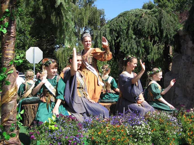by: GAZETTE FILE PHOTO: RAY PITZ - Deadline for the Maid Marian court is coming soon. Here's the 2009 court on a float in the annual Robin Hood Festival Parade.