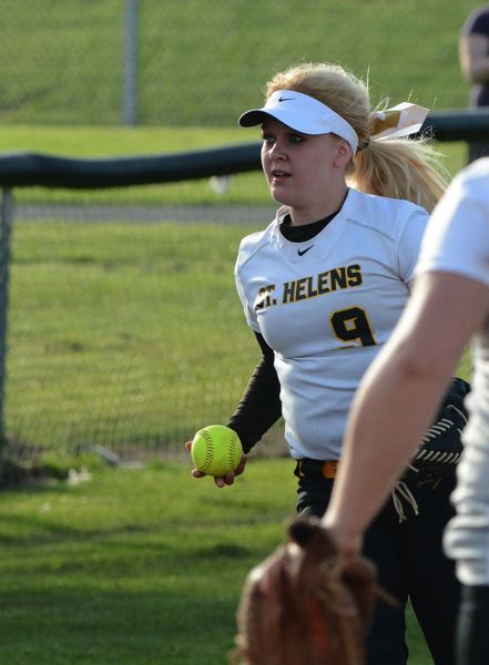 by: JOHN WILLIAM HOWARD - Alyssa Geisbers had a hand in all three outs to close the top of the seventh inning and preserve the win for St. Helens.