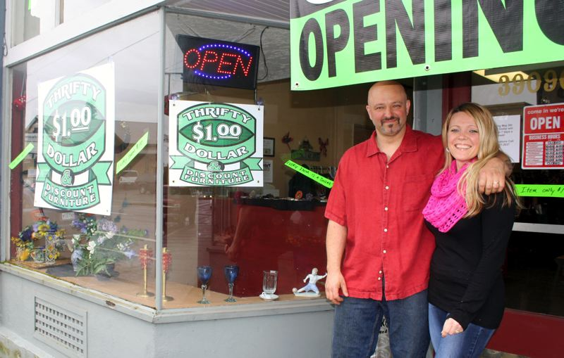 by: POST PHOTO: KYLIE WRAY - Will and Shawna Runells opened Thrifty Dollar and Discount Furniture on April 4.