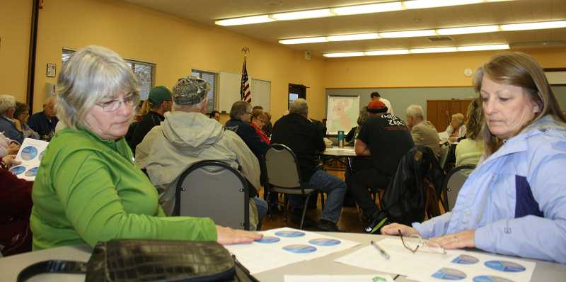 by: PEGGY SAVAGE - Nearly 100 citizens gave input at a special town hall meeting on Molalla Aquatic Center issues Wednesday.