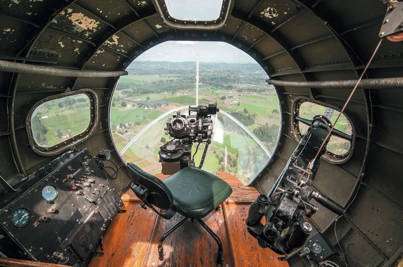 by: SPOKESMAN PHOTO: JOSH KULLA - This is the view from the nose of the B-17F Memphis Belle shared by thousands of American aircrewmen during World War II. Although this shows Washington County, it wouldnt have looked so different flying low across France, Belgium and Germany.