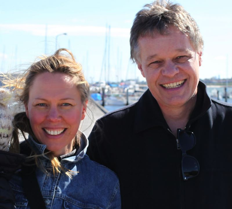 by: PHOTO COURTESY: GREG BAARTZ-BOWMAN - Gallant Captain directors pictured are Graeme Base and Katrina Mathers from Melbourne, Australia.