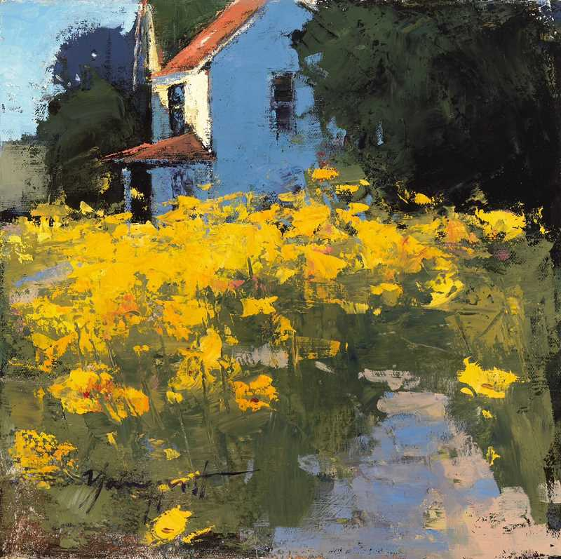 by: SUBMITTED PHOTO - Romona Youngquist, one of the plein air artists participating in this years event, painted this piece, Golden Poppies.