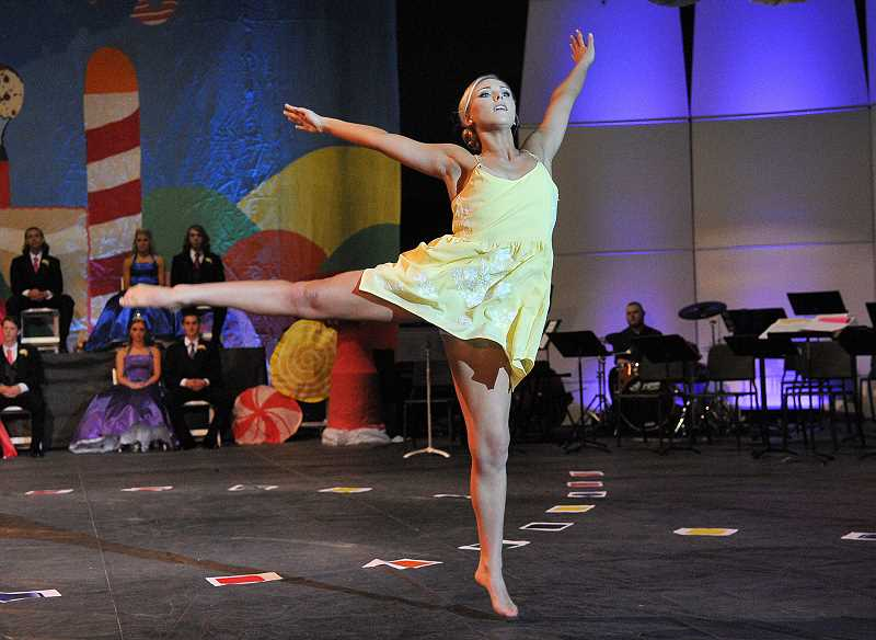 by: TIDINGS PHOTO: VERN UYETAKE - Princess Maddie Groh performs a lyrical dance.